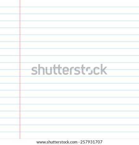 Lined paper. Vector. - stock vector