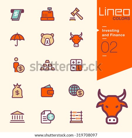Lineo Colors - Investing and Finance icons - stock vector