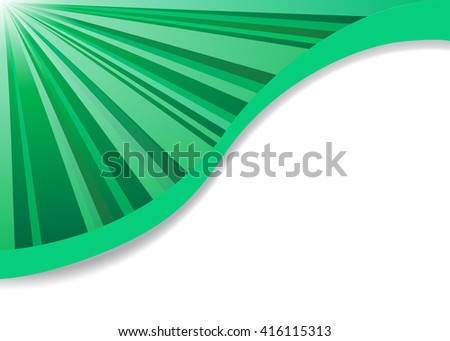 Lines business card template - stock vector
