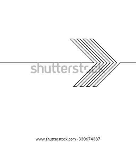 Lines Design . Vector Arrow Background.Abstract Geometrical illustration. - stock vector