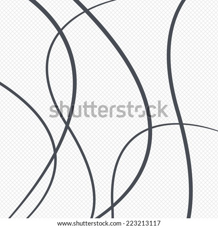 Lines pattern background. Abstract wallpaper with stripes or curves. Grid lines texture. Cells repeating pattern. White background. Vector - stock vector