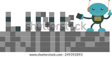 Link Building - stock vector