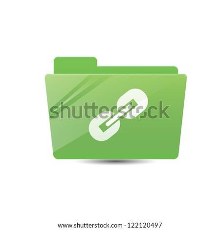 Links Folder - stock vector