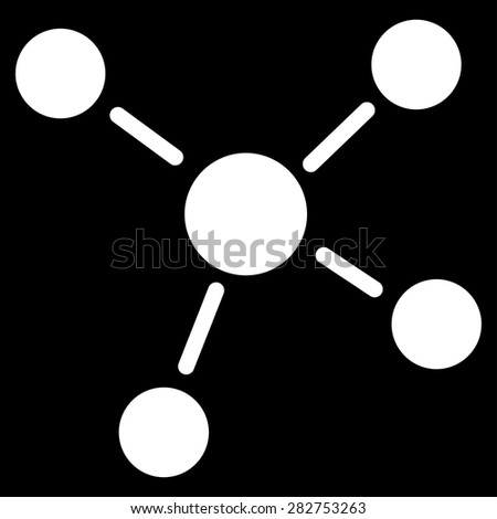 Links icon from Business Bicolor Set. This isolated flat symbol uses white color. - stock vector
