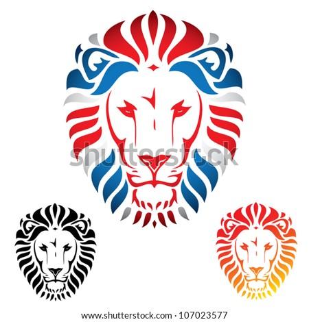 Lion head - vector illustration - stock vector