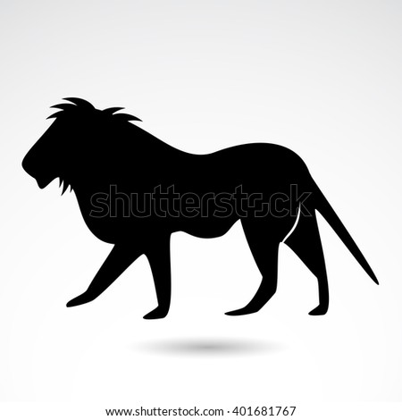 Lion icon isolated on white background. Vector art. - stock vector