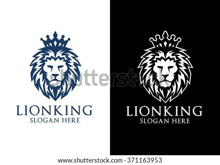 lion logo, elegant lion vector logo design - stock vector