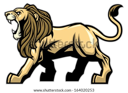 Lion mascot - stock vector