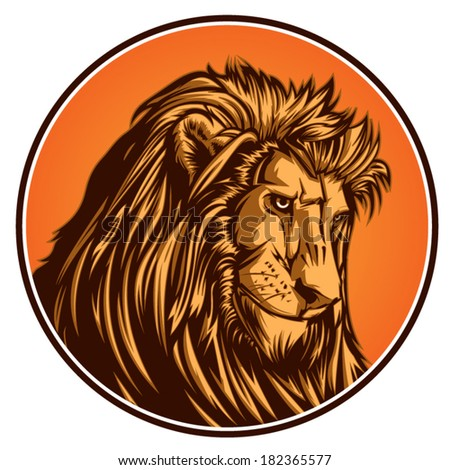 Lion vector graphic for general use. Layered and easy to edit. - stock vector