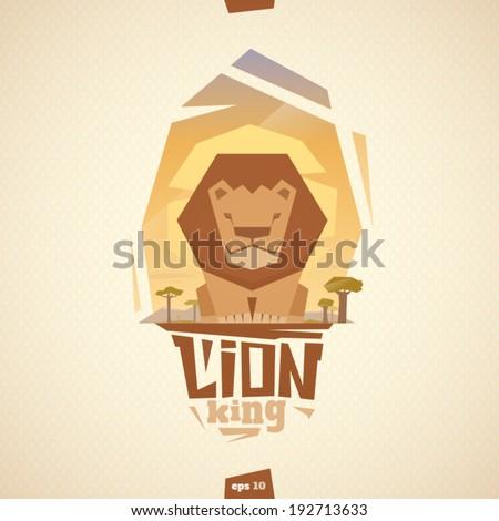 Lion vector illustration - stock vector