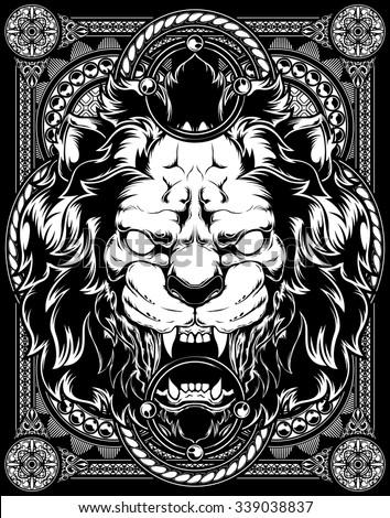 Lion vector Pattern - stock vector