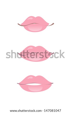 lips - stock vector