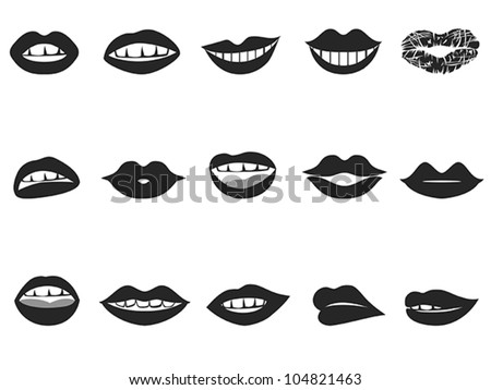 lips icon - stock vector