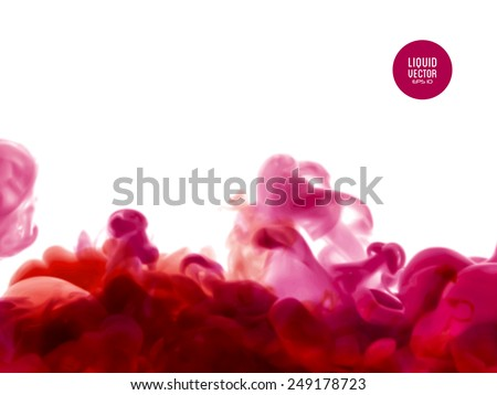 Liquid ink, Vector abstract background for banner, brochure, poster or web site design. - stock vector