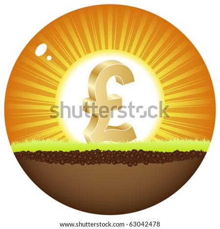 lira view in sunshine - stock vector