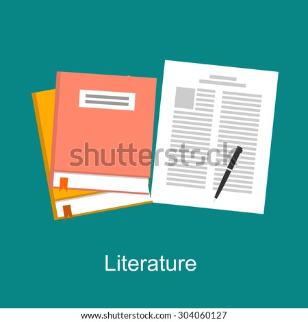 Literature illustration concept. Flat design. - stock vector