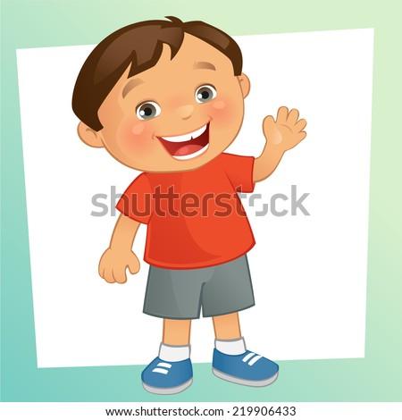 Little Boy - stock vector
