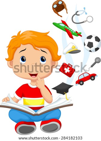 Little boy a million dreams - stock vector