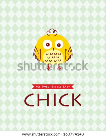 little chick poster - stock vector