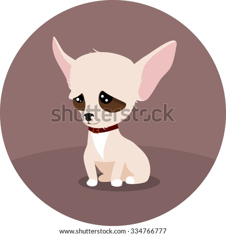 Little chihuahua - stock vector