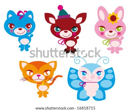 little creatures - stock vector
