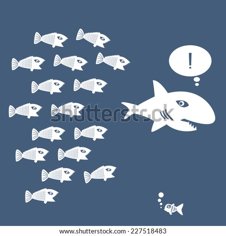 Big Fish Little Fish Stock Photos Images Pictures
