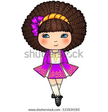 Irish Dance Dress Drawings Little Irish Dancing Girl in