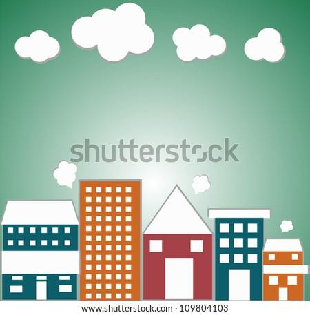 little town - stock vector
