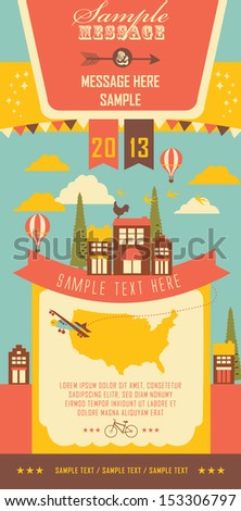 Little Town - stock vector
