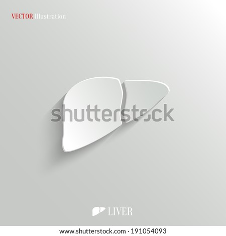 Liver icon - vector web illustration, easy paste to any background - stock vector
