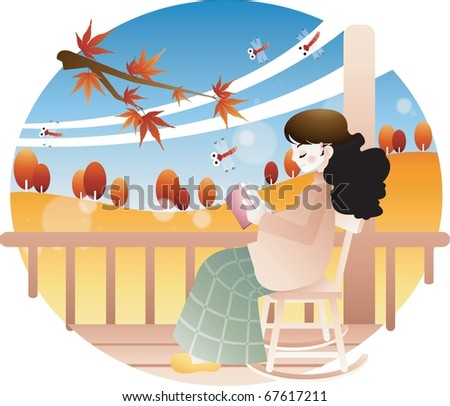 Living a happy pregnancy - stock vector