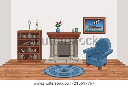 Cartoon Living Room Stock Photos Images Pictures