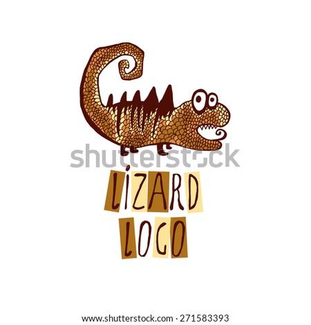 Lizard logo - stock vector