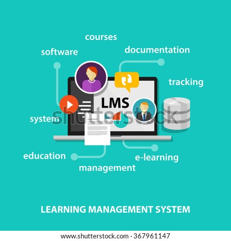 LMS learning management system - stock vector