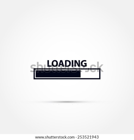 Loading bar icon  - stock vector
