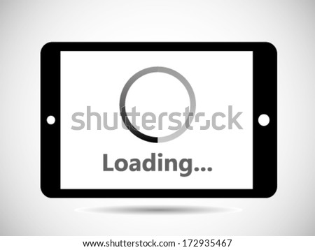 Loading Icon - Tablet - stock vector