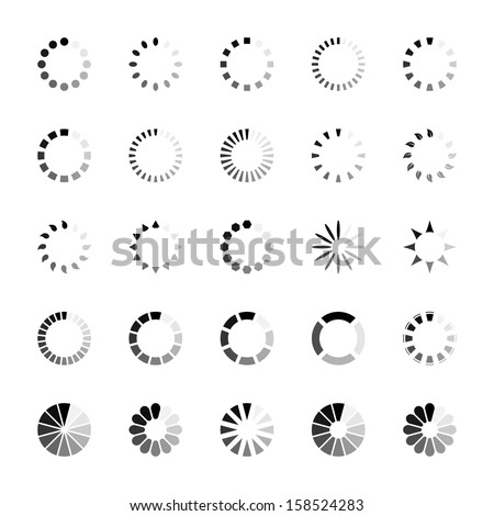 Loading icons - stock vector