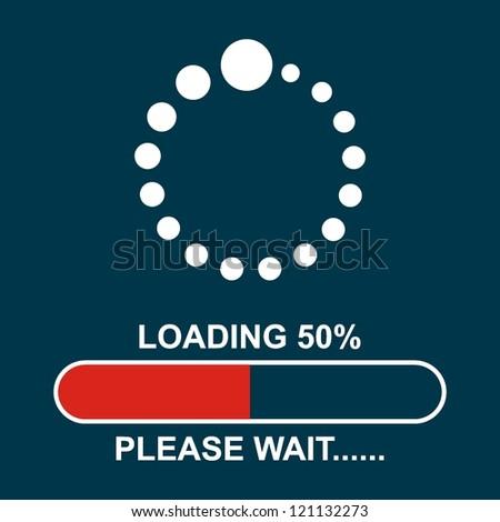Loading.please wait.. - stock vector