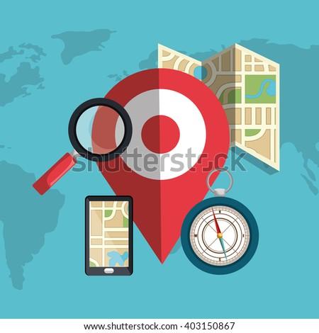 location concept design  - stock vector