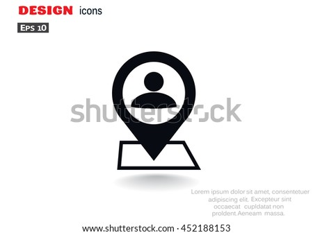 Location icon flat. - stock vector