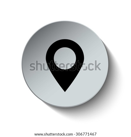 Location icon. Map pointer icon. GPS icon. Button. EPS10. Illustration - stock vector