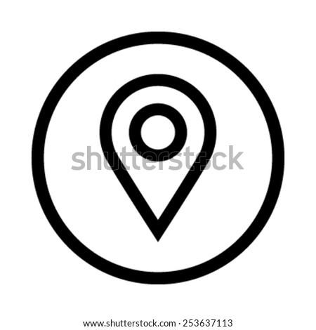 Location Pin Vector Icon - stock vector