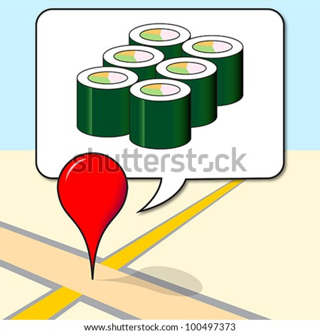 Location Social Media Checkin Icon - stock vector