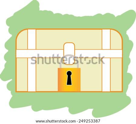lock box  - stock vector