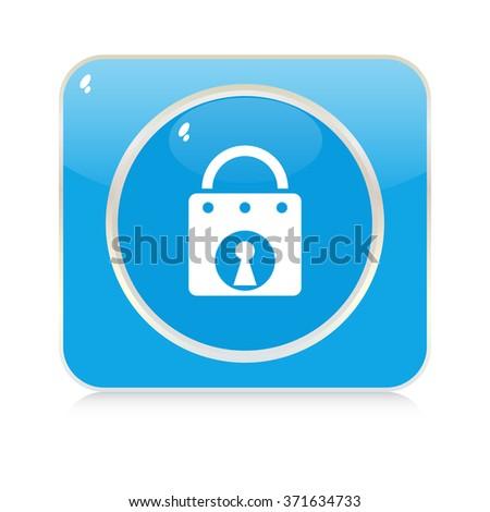 lock button - stock vector