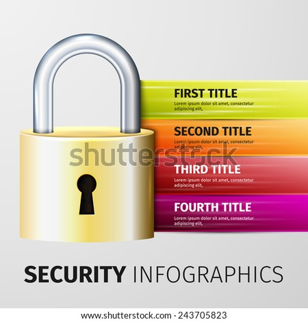 lock icon, excellent vector illustration,  - stock vector