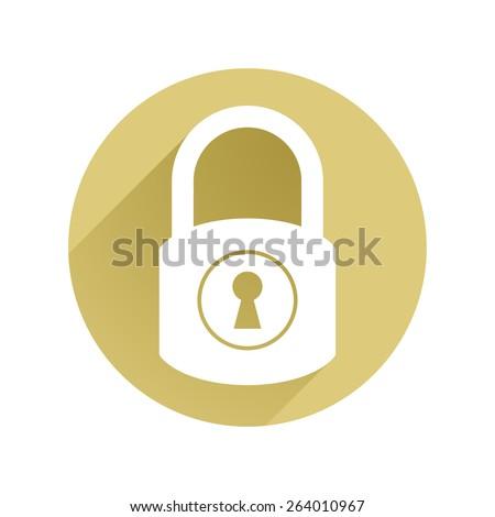 Lock icon flat - stock vector