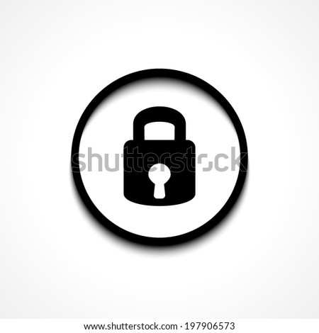 Lock icon. Flat design style modern vector illustration. Isolated on stylish color background. Elements in flat design.  - stock vector