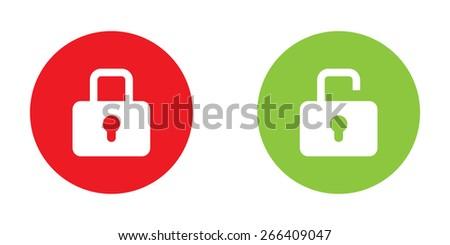Lock icon in color - stock vector