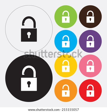 Lock icon - Vector - stock vector